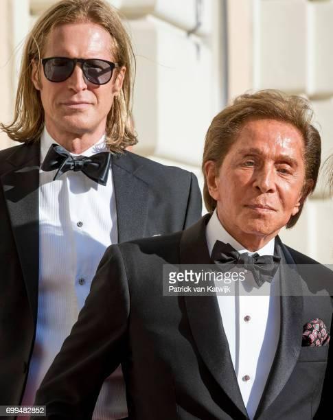 Valentino Garavani and Bruce Hoekstra attend a concert for President Sergio Mattarella performed by Dutch violinist Janine Jansen at the Palazzo...