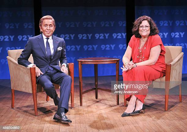 Valentino Garavani and Fern Mallis attend 92nd Street Y In Conversation series on November 18 2014 in New York City