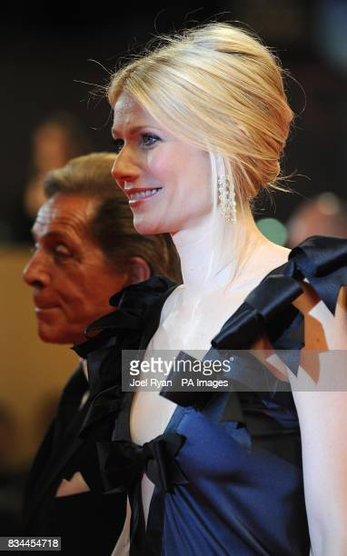 Valentino Garavani and Gwyneth Paltrow arrive for the screening of 'Two Lovers' during the 61st Cannes Film Festival in Cannes France
