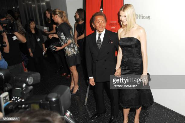 Valentino Garavani and Gwyneth Paltrow attend GILT GROUPE and QUINTESSENTIALLY host the Premiere of 'VALENTINO The Last Emperor' at The Museum of...