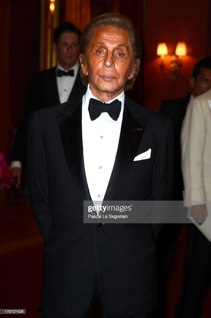 <a gi-track='captionPersonalityLinkClicked' href=/galleries/search?phrase=Valentino+Garavani+-+Fashion+Designer&family=editorial&specificpeople=4297414 ng-click='$event.stopPropagation()'>Valentino Garavani</a> attends a private dinner on the eve of the wedding of Princess Madeleine and Christopher O'Neill hosted by King Carl XVI Gustaf and Queen Silvia at The Grand Hotel on June 7, 2013 in Stockholm, Sweden.