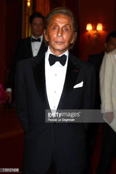 Valentino Garavani attends a private dinner on the eve of the wedding of Princess Madeleine and Christopher O'Neill hosted by King Carl XVI Gustaf...