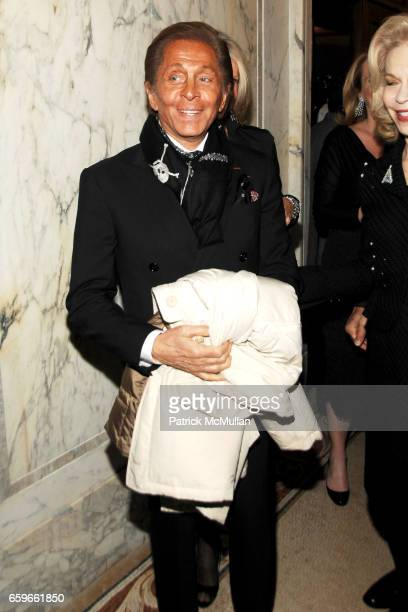 Valentino Garavani attends GILT GROUPE and QUINTESSENTIALLY Private Dinner for the Premiere of 'VALENTINO The Last Emperor' at The Oak Room at the...