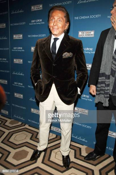 Valentino Garavani attends THE CINEMA SOCIETY BROOKS BROTHERS host a screening of 'THE GREAT BUCK HOWARD' at Tribeca Grand Hotel on March 10 2009 in...