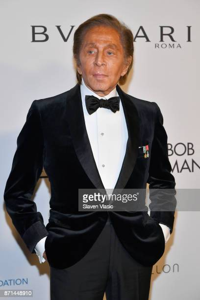 Valentino Garavani attends the Elton John AIDS Foundation's Annual Fall Gala with Cocktails By Clase Azul Tequila at Cathedral of St John the Divine...