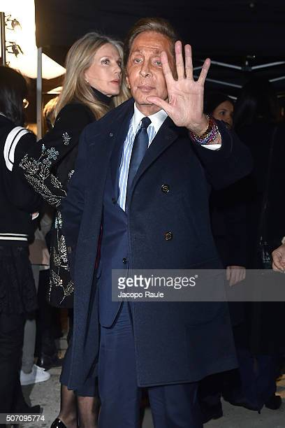 Valentino Garavani attends the Valentino fashion show during Paris Fashion Week Haute Couture Spring/Summer 2016 on January 27 2016 in Paris France