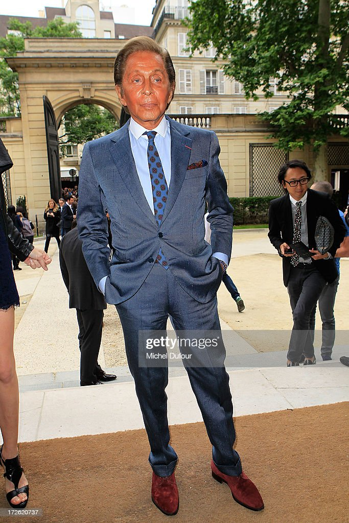 Valentino Garavani attends the Valentino show as part of Paris Fashion Week Haute Couture Fall/Winter 2013-2014 at Hotel Salomon de Rothschild on July 3, 2013 in Paris, France.