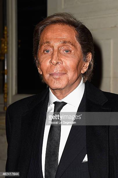 Valentino Garavani attends the Valentino show as part of Paris Fashion Week Haute Couture Spring/Summer 2015 on January 28 2015 in Paris France