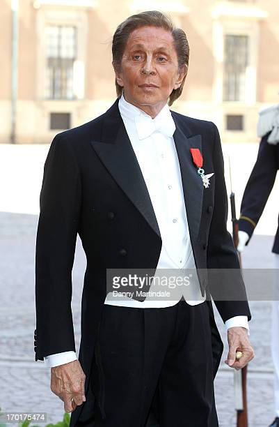 Valentino Garavani attends the wedding of Princess Madeleine of Sweden and Christopher O'Neill hosted by King Carl Gustaf XIV and Queen Silvia at The...