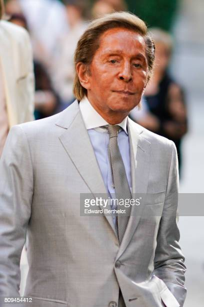 Valentino Garavani is seen after the Valentino show during Paris Fashion Week Haute Couture Fall/Winter 20172018 on July 5 2017 in Paris France