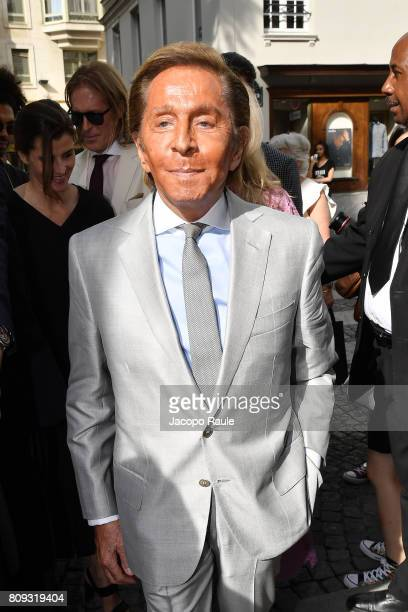 Valentino Garavani is seen arriving at Valentino fashion show during the Paris Fashion Week Haute Couture Fall/Winter 20172018 on July 5 2017 in...