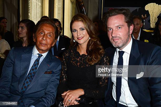Valentino Garavani Princess Madeleine of Sweden and Christopher O'Neill attend the Valentino show as part of Paris Fashion Week HauteCouture...