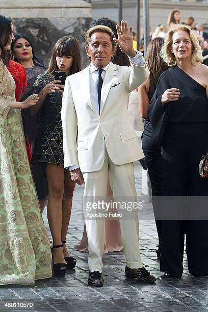 Valentino Garavani spotted arriving at Valentino 'Mirabilia Romae' haute couture collection on July 9 2015 in Rome