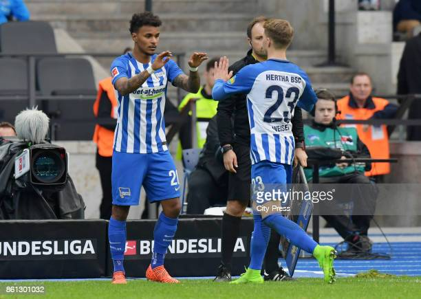 Valentino Lazaro comes on during a substitute for Mitchell Weiser of Hertha BSC during the game between Hertha BSC and Schalke 04 on october 14 2017...