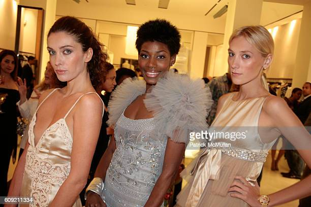 Valentino Models attends Valentino and Holly Robinson Peete Rodney Peete host cocktail shopping event with wives of the NFL players at Valentino...