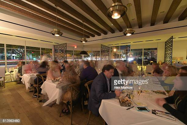 Valentino Restaurant hosts guests at a Dinner Hosted By Marc Vetri And Giovanni Rocchio Part of the Taste Fort Lauderdale Seriesduring 2016 Food...