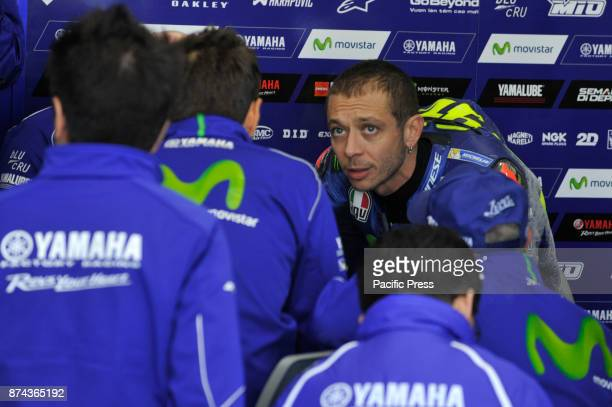 Valentino Rossi during Motogp test day at Valencia circuit