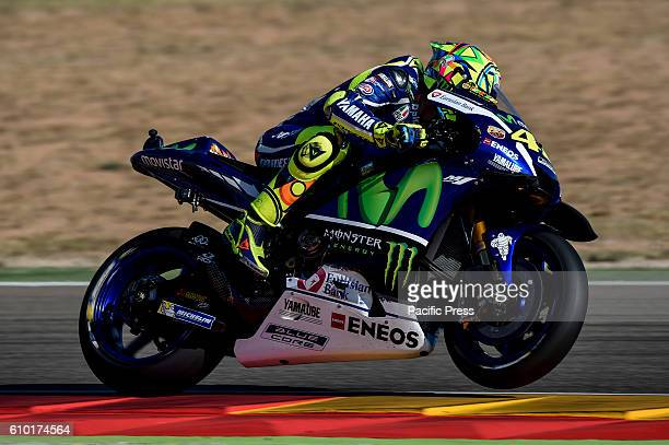 Valentino Rossi during the Motogp free practice sessions of saturday at Aragon Circuit Spain