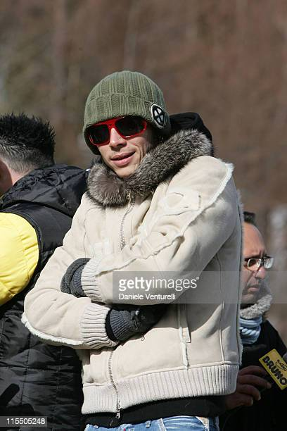 Valentino Rossi during Valentino Rossi Lucio Dalla and Luciano Pavarotti Attend Charity Event at a School for the Disabled January 18 2006 at...