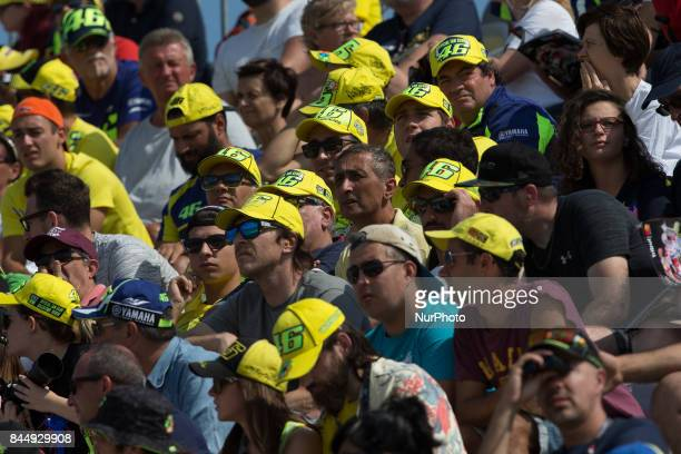 Valentino Rossi fans during the Qualifying of the Tribul Mastercard Grand Prix of San Marino and Riviera di Rimini at Misano World Circuit quotMarco...