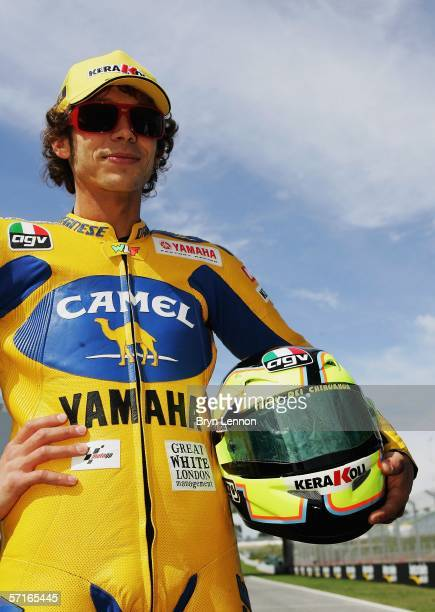 Valentino Rossi of Italy and Yamaha poses for photographers during preparations for the 2006 Spanish MotoGP at the Circuito de Jerez on March 23 2006...