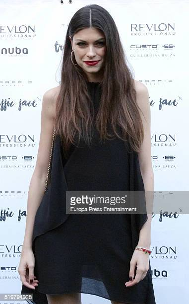 Valentino Rossi's ex girlfriend Linda Morselli attends as jury the model contest Traffic Face'16 on April 7 2016 in Barcelona Spain