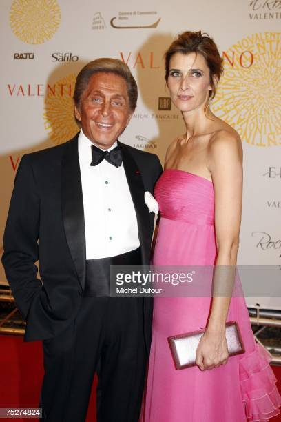 Valentino with Rosario Nadal arrives at the Villa Borghese for a gala to celebrate Valentino's latest Fashion show and Anniversary on July 7 2007 in...