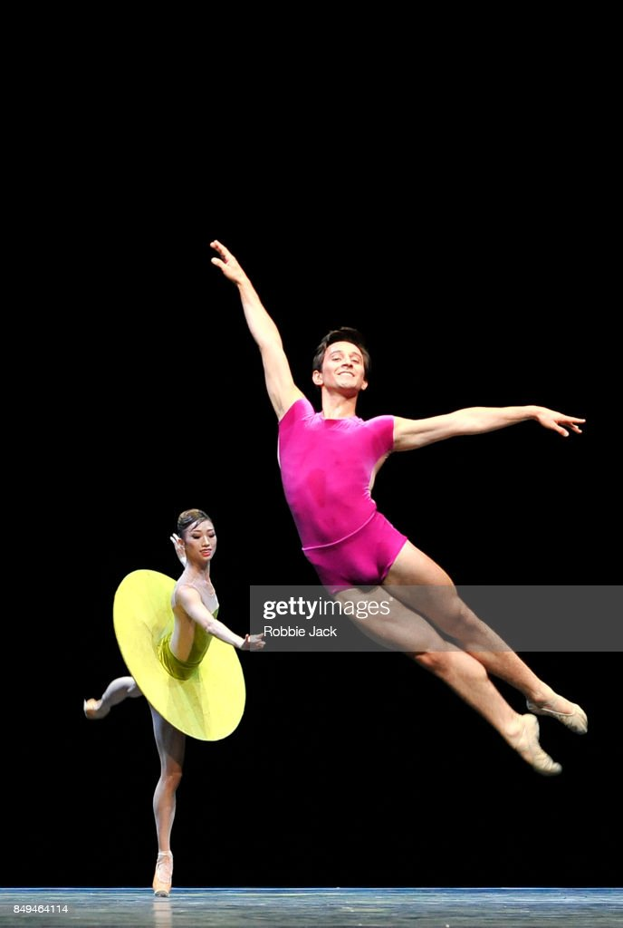 Valentino Zucchetti and Akane Takada in the Royal Ballet's production The Vertiginous Thrill of Exactitude at Hull New Theatre on September 15, 2017 in Hull, England.