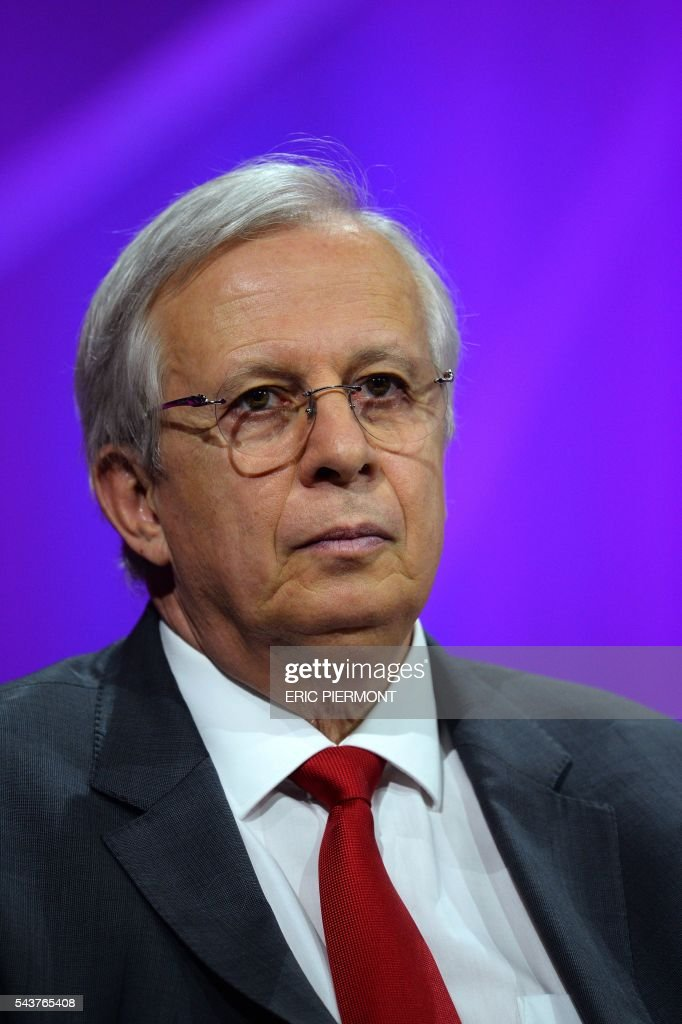 Valeo Chairman and CEO Jacques Aschenbroich attends a session at the Viva Technology event in Paris on June 30, 2016. / AFP / ERIC
