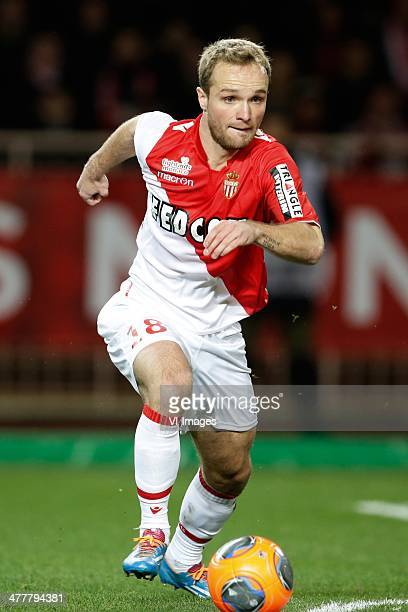 Valere Germain of AS Monaco during the France Ligue 1 match between AS Monaco and Paris SaintGermain at Stade Louis II on february 9 2014 in Monaco...