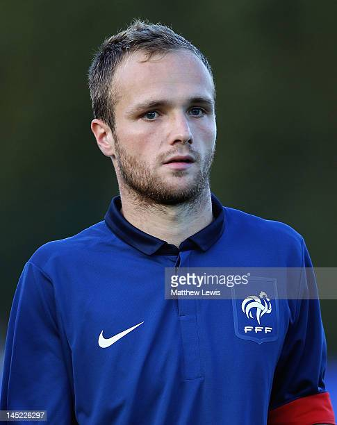 Valere Germain of France pictured ahead of the Toulon Tournament Group B match between Belarus and France at Stade de Lattre on May 24 2012 in...