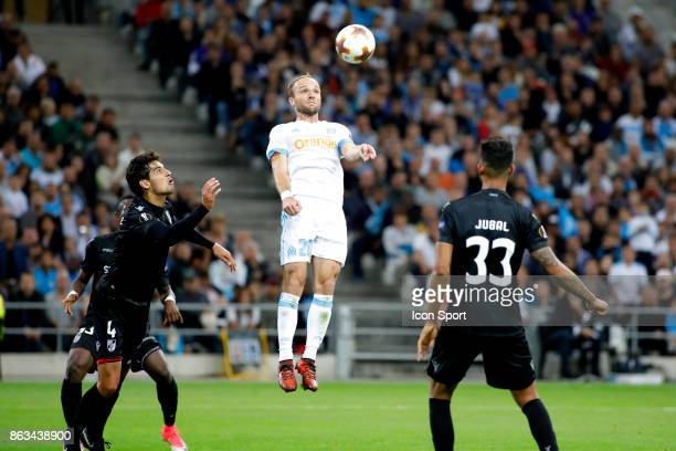 Valere Germain of Marseille during the Europa League match between Olympique de Marseille and Vitoria Guimaraes SCat Stade Velodrome on October 19...