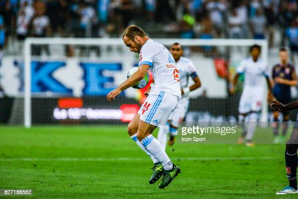 Valere Germain of Marseille during the Ligue 1 match between Olympique Marseille vs Dijon FCO at Stade Velodrome on August 6 2017 in Marseille France...