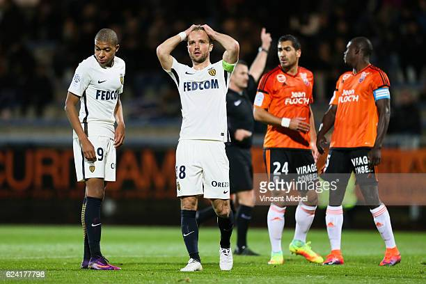 Valere Germain of Monaco during the Ligue 1 match between Fc Lorient and As Monaco at Stade du Moustoir on November 18 2016 in Lorient France