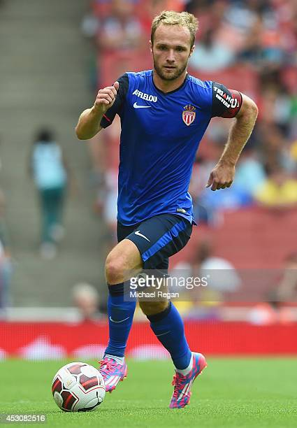 Valere Germain of Monaco in action during the Emirates Cup match between Valencia and AS Monaco at the Emirates Stadium on August 2 2014 in London...