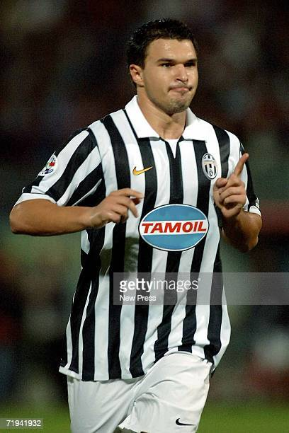 Valeri Bojinov of Juventus celebrates after scoring during the Serie B match between Juventus and Crotone at Ezio Scida stadium September 19 2006 in...