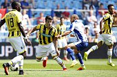 Valeri Qazaishvili of Vitesse Andre Andre of FC Porto during the GelreDome tournament match between Vitesse Arnhem and FC Porto on July 23 2016 at...