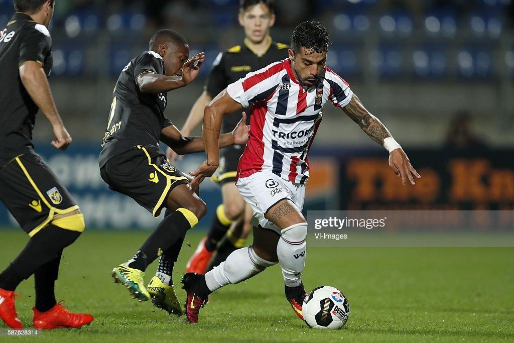 Valeri Qazaishvili of Vitesse Kelvin Leerdam of Vitesse Mitchell van Bergen of Vitesse Bruno Andrade of Willem II during the Dutch Eredivisie match...