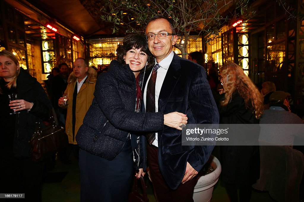 Valeria Bennati and Massimo Borio attend Citroen DS Sofa and DS3 Cabrio L'Uomo Vogue Limited Edition cocktail at Corso Como 10 on April 9, 2013 in Milan, Italy.