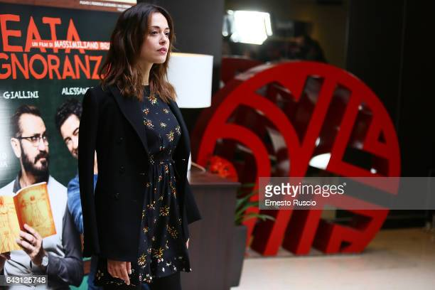 Valeria Bilello attends a photocall for 'Beata Ignoranza' on February 20 2017 in Rome Italy