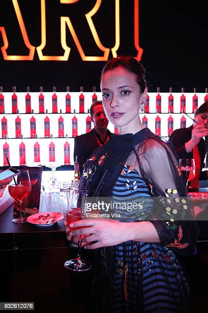 Valeria Bilello attends 'Campari Red Diaries Killer In Red' on January 24 2017 in Rome Italy