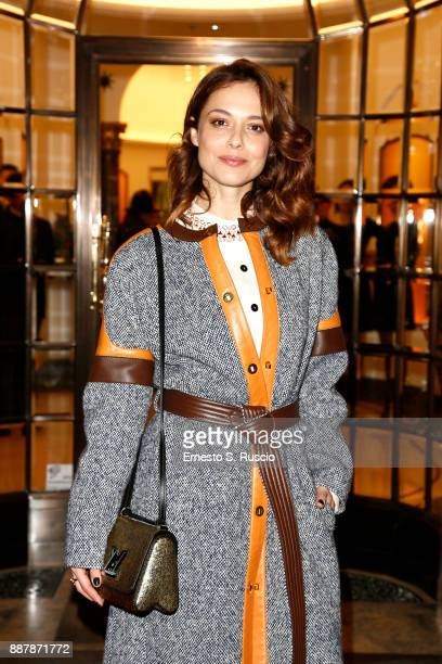 Valeria Bilello attends Christmas Lights At Bvlgari Boutique Rome on December 7 2017 in Rome Italy