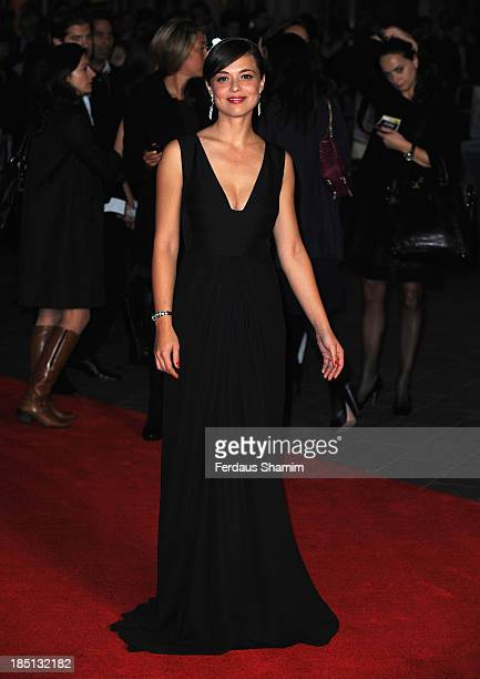Valeria Bilello attends the European premiere of 'One Chance' at Odeon Leicester Square on October 17 2013 in London England