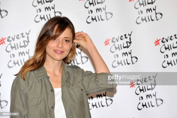 Valeria Bilello attends the 'Every Child Is My Child' Presentation In Rome on June 16 2017 in Rome Italy