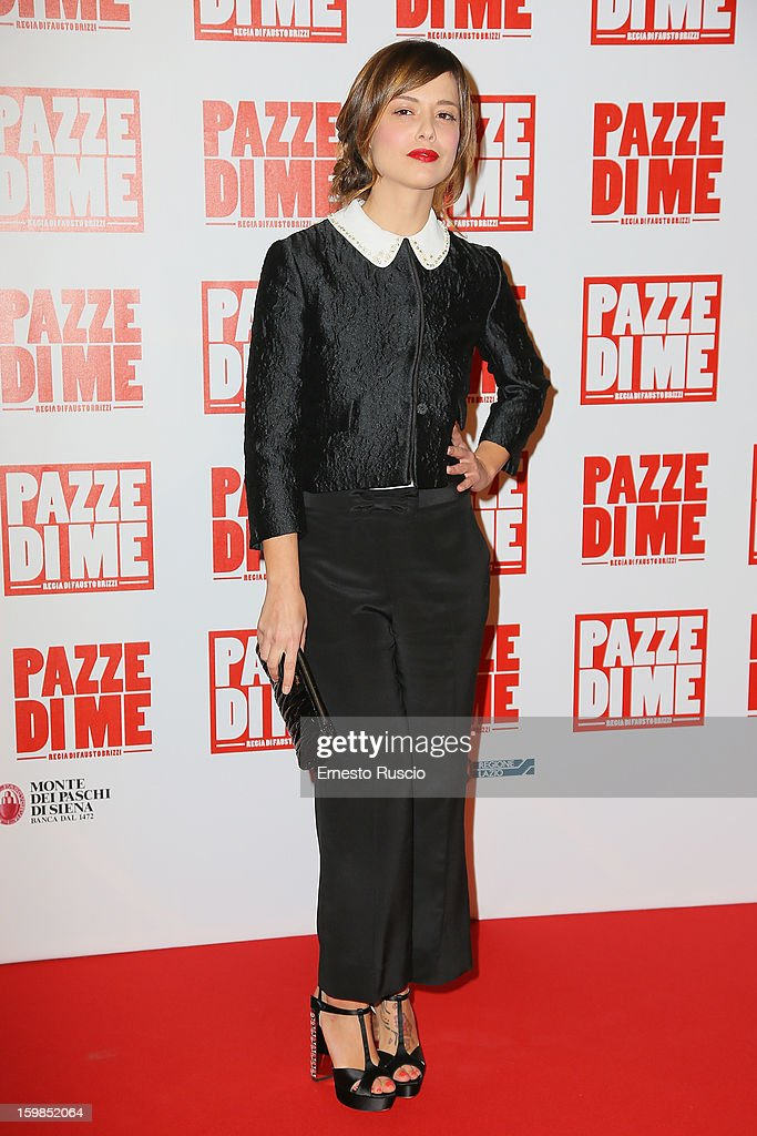 Valeria Bilello attends the 'Pazze di Me' premiere at Teatro Sistina on January 21, 2013 in Rome, Italy.