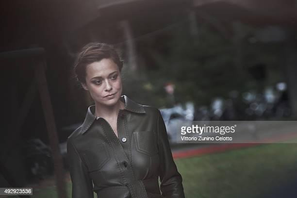 Valeria Bilello poses on October 16 2015 in Rome Italy