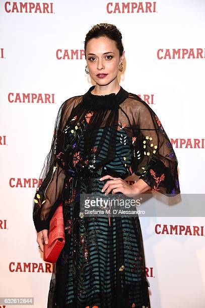 Valeria Bilello walks the red carpet for 'Campari Red Diaries Killer In Red' on January 24 2017 in Rome Italy