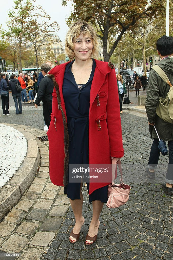 Valeria Bruni attends the Miu Miu Spring/Summer 2013 show as part of Paris Fashion Week on October 3, 2012 in Paris, France.