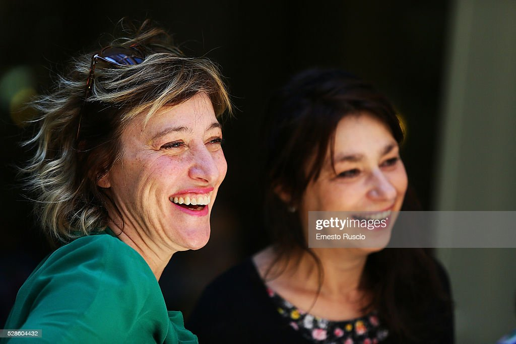 Valeria Bruni Tedeschi and Francesca Archibugi attend the 'La Pazza Gioia' photocall at Hotel Visconti on May 06, 2016 in Rome, .