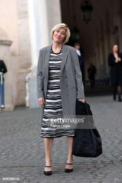 Valeria Bruni Tedeschi arrives at the 61 David Di Donatello nominees presentation at Palazzo del Quirinale on March 27 2017 in Rome Italy